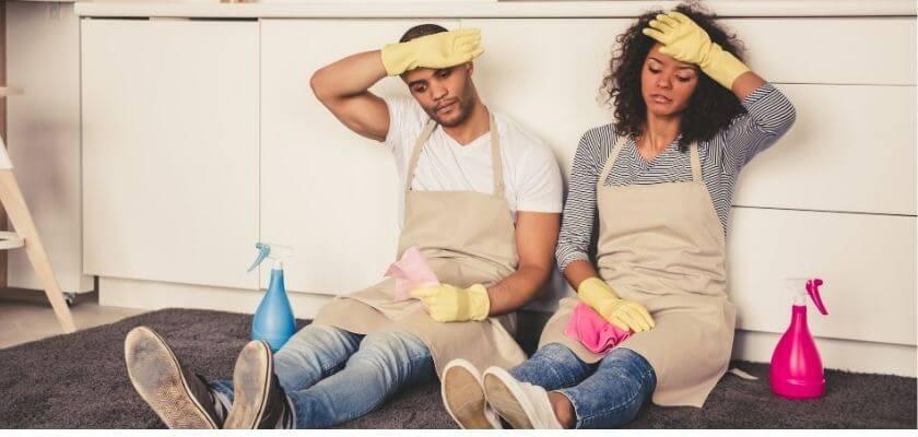 Jobbigt att städa hemmet